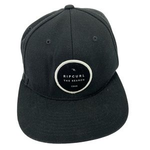 Rip Curl Classics Snapback Hat Black White Logo
